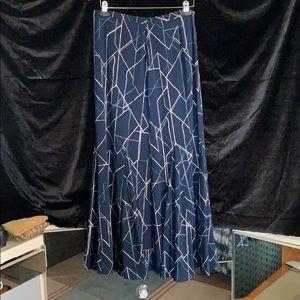 Never-Worn Navy Floor-length Skirt